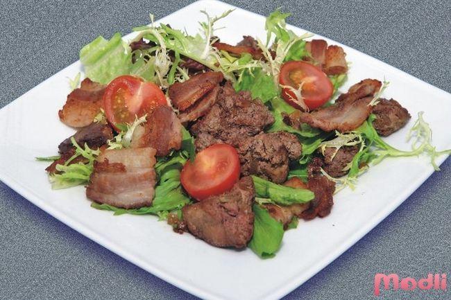 Рецепт салата из куриной печени
