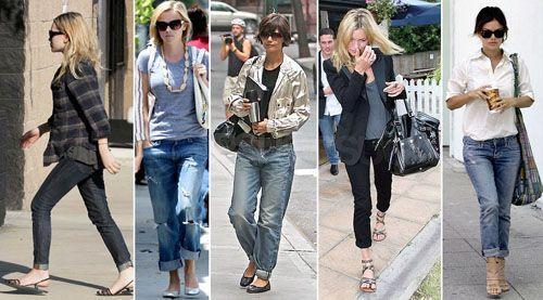 Звездотренд: селебрити берегут джинсы и показывают обувь